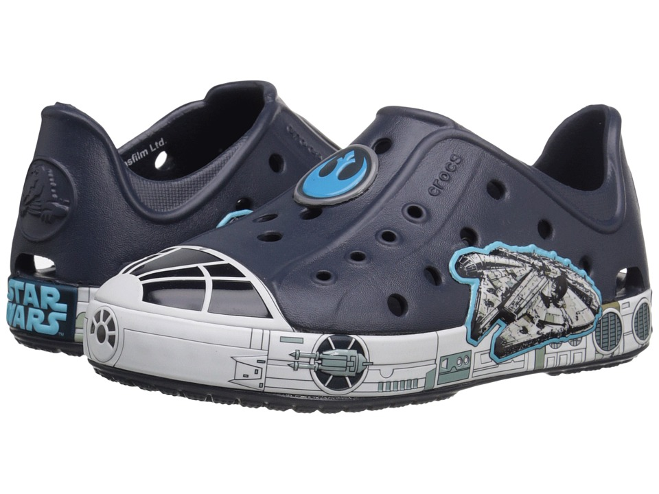 Crocs Kids - Bump It Star Wars Millennium Falcon Shoe (Toddler/Little Kid) (Navy) Boys Shoes