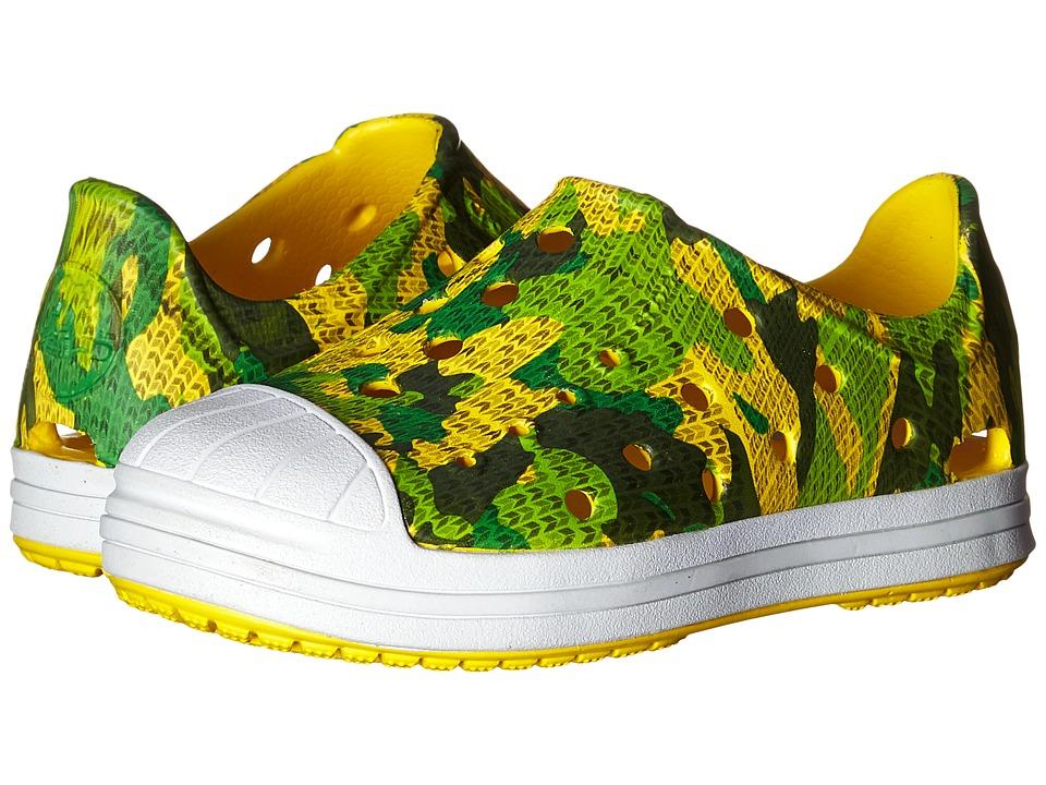 Crocs Kids Bump It Camo Shoe (Toddler/Little Kid) (Grass Green) Boys Shoes