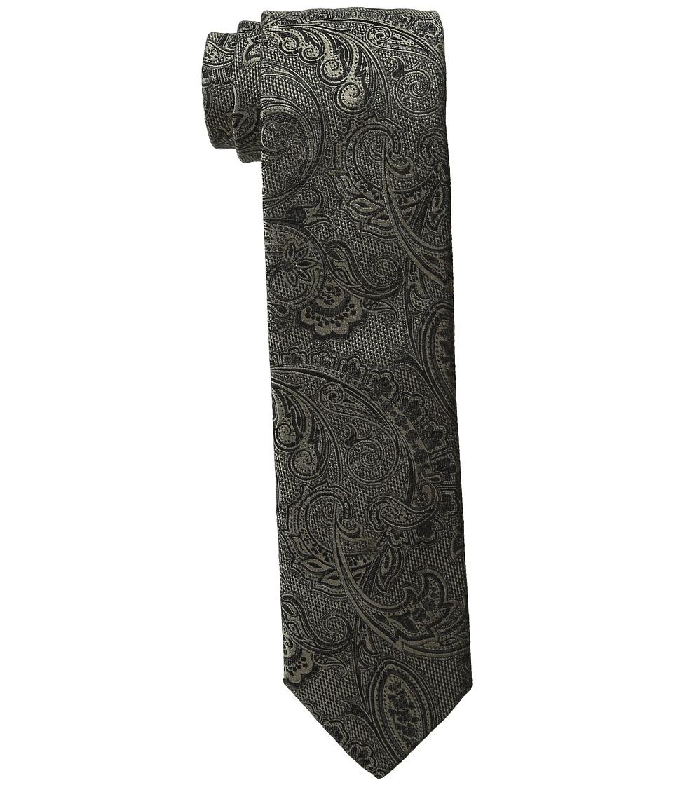 Dolce & Gabbana - Paisley Silk Tie (Gold/Black Pattern) Ties
