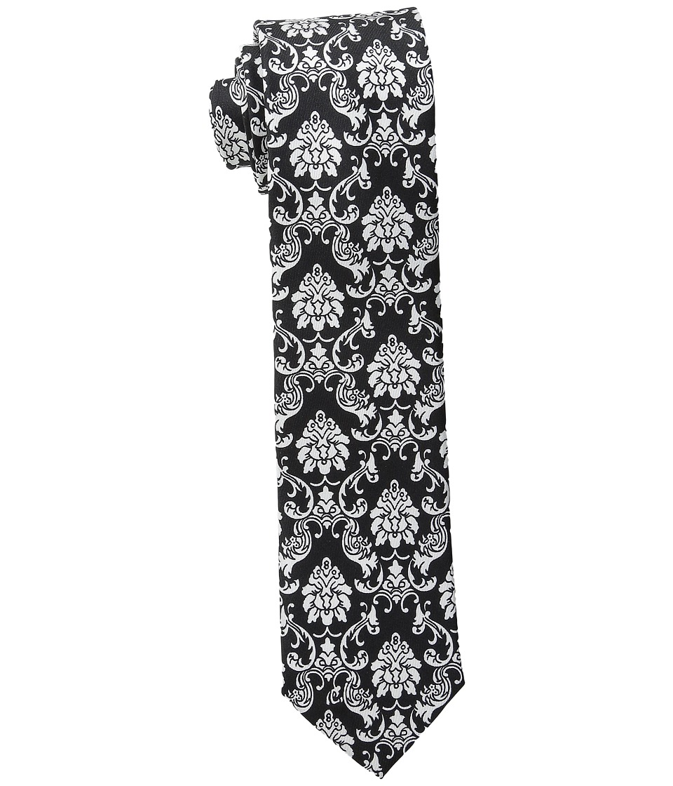 Dolce & Gabbana - Baroque Patterned Silk Tie (Black/White Floral Print) Ties