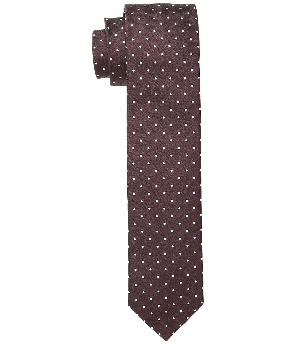Dolce & Gabbana - Polka Dot Silk Tie (Burgundy/White Dots) Ties