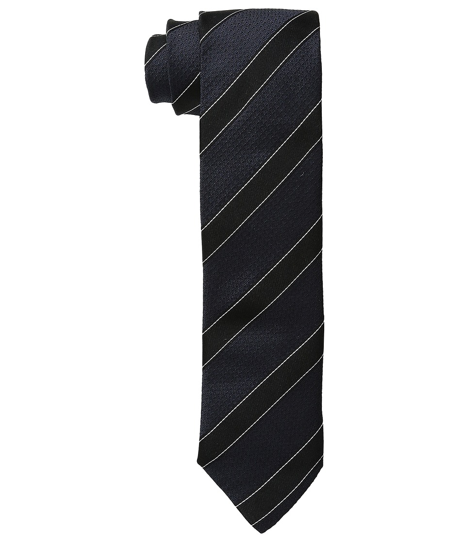 Dolce & Gabbana - Striped Silk Tie (Navy/Black Stripe) Ties