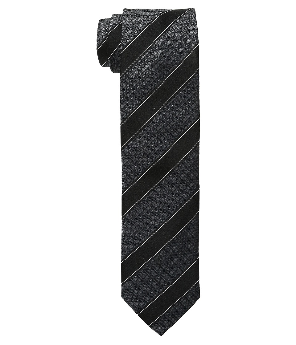 Dolce & Gabbana - Striped Silk Tie (Dark Grey/Black Stripe) Ties
