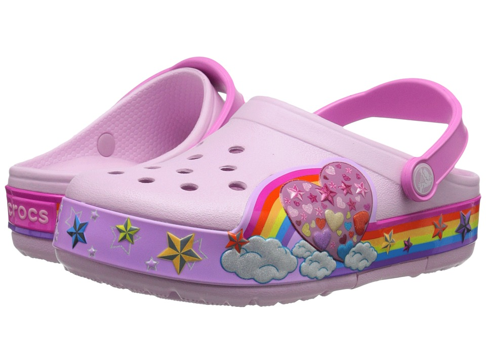 Crocs Kids - CrocsLights Rainbow Heart Clog (Toddler/Little Kid) (Ballerina Pink) Girls Shoes