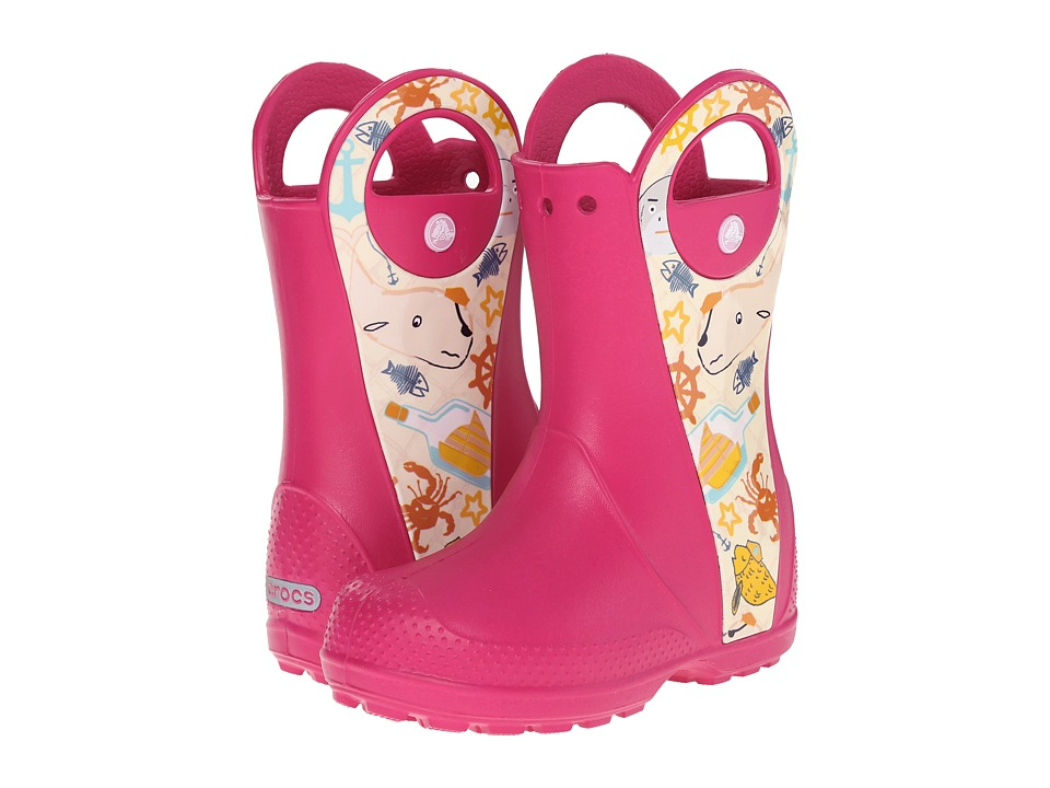 Crocs Kids - Handle It Sea Life Boot (Toddler/Little Kid) (Raspberry) Kids Shoes
