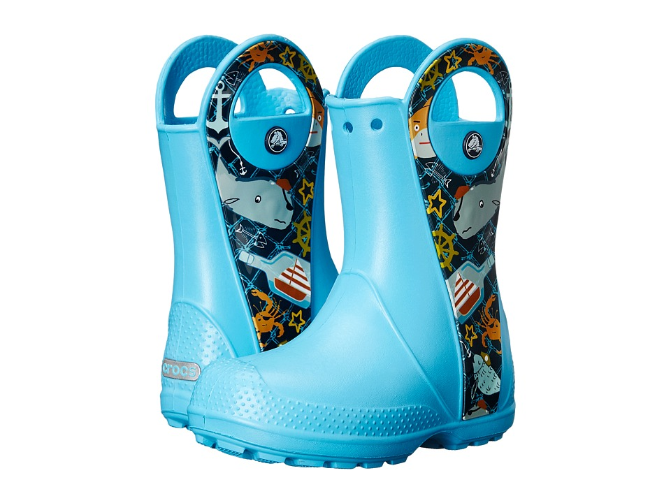 Crocs Kids - Handle It Sea Life Boot (Toddler/Little Kid) (Electric Blue) Kids Shoes
