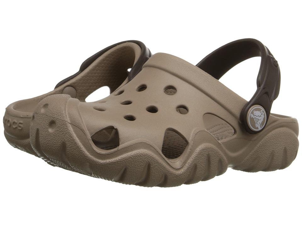 Crocs Kids - Swiftwater Clog (Toddler/Little Kid) (Mushroom/Espresso) Kids Shoes