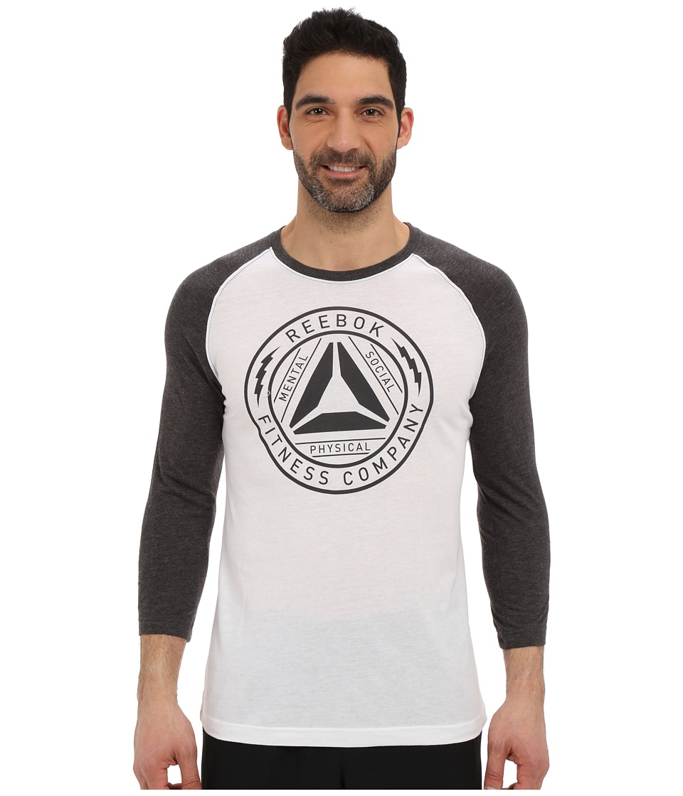 Reebok - Badge Baseball Tee (White) Men