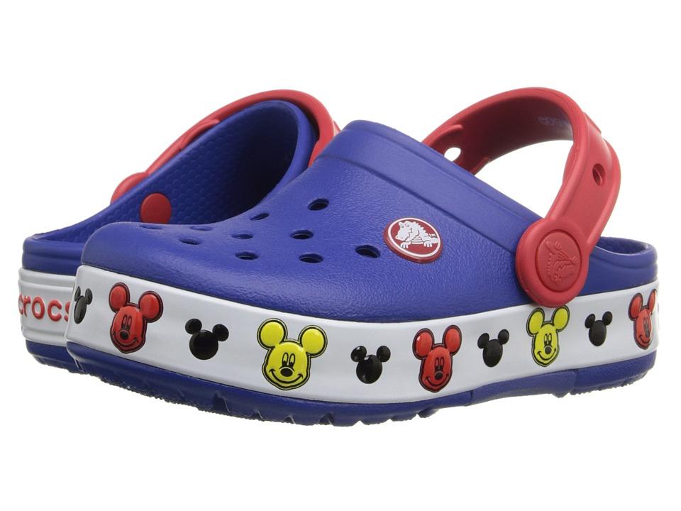 Crocs Kids CrocsLights Clog (Toddler/Little Kid) (Cerulean Blue) Boys Shoes