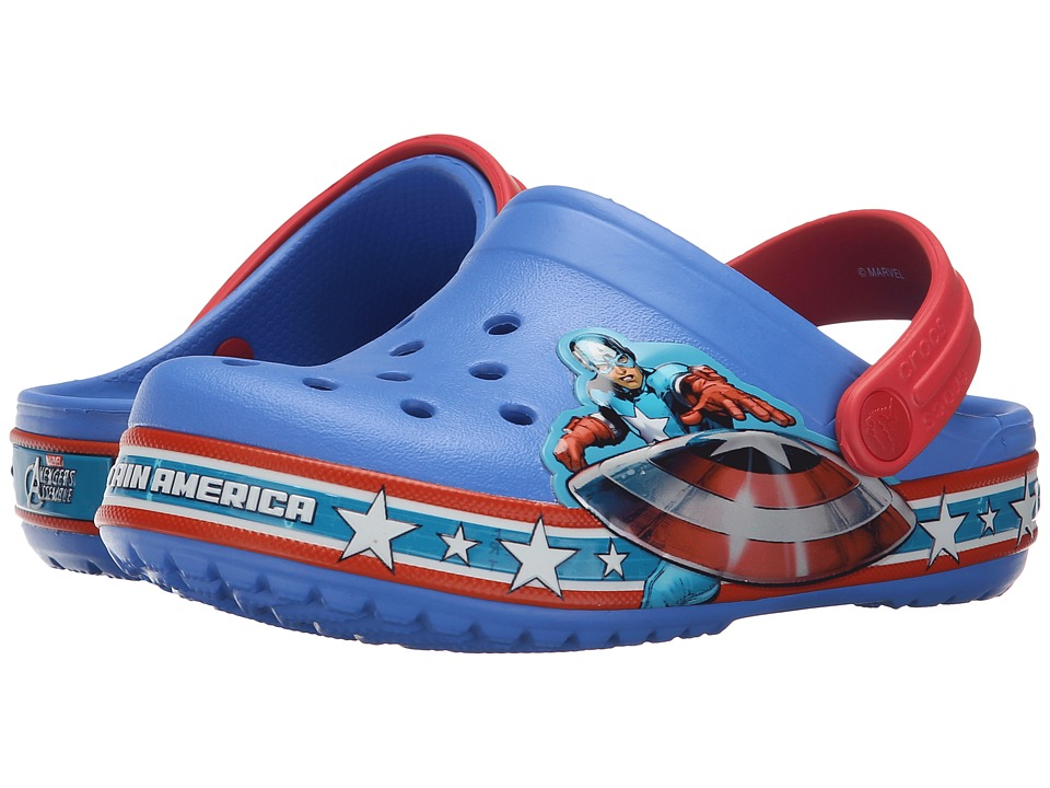 Crocs Kids - Crocband Captain America Clog (Toddler/Little Kid) (Varsity Blue/Red) Boys Shoes