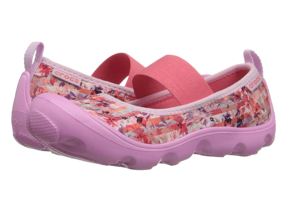 Crocs Kids - Duet Busy Day Floral PS (Toddler/Little Kid) (Carnation) Girl's Shoes