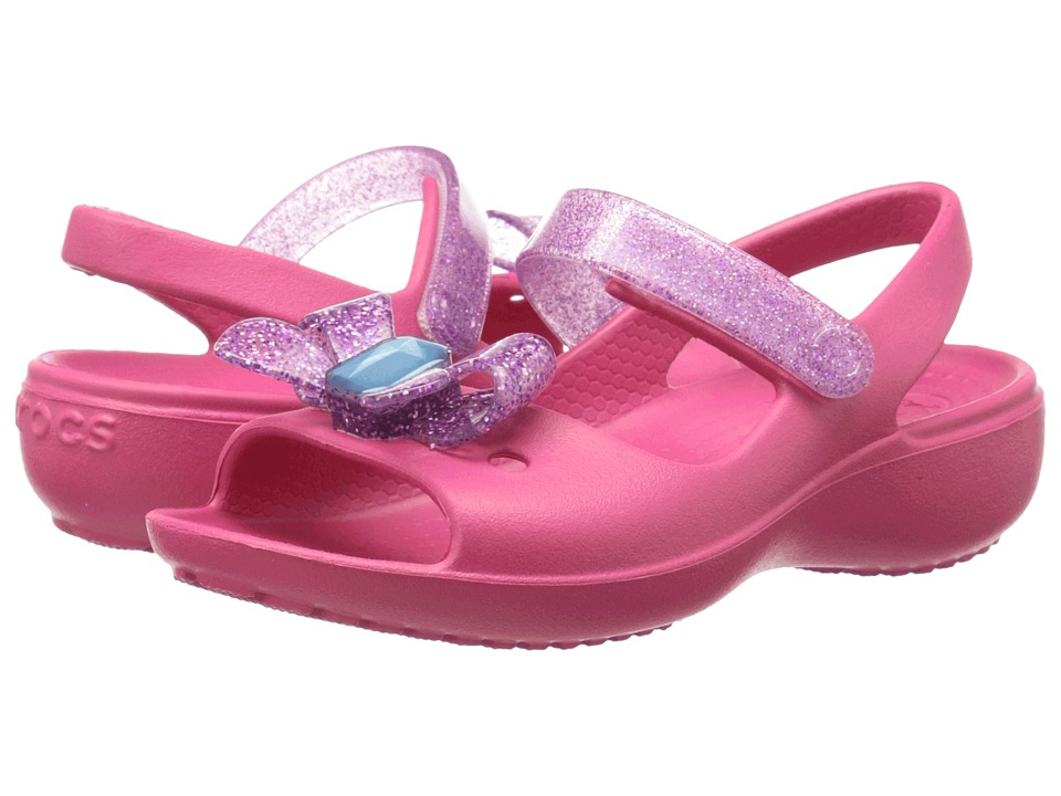 Crocs Kids - Keeley Springtime Mini Wedge PS (Toddler/Little Kid) (Raspberry/Amethyst) Girls Shoes