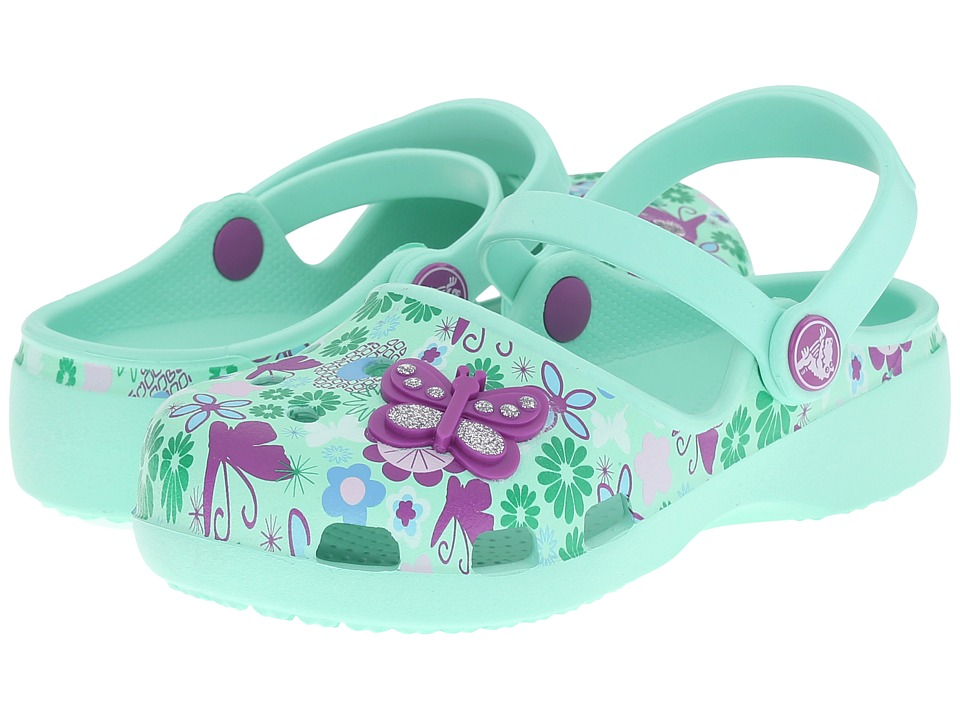 Crocs Kids - Karin Butterfly Clog (Toddler/Little Kid) (New Mint) Girls Shoes