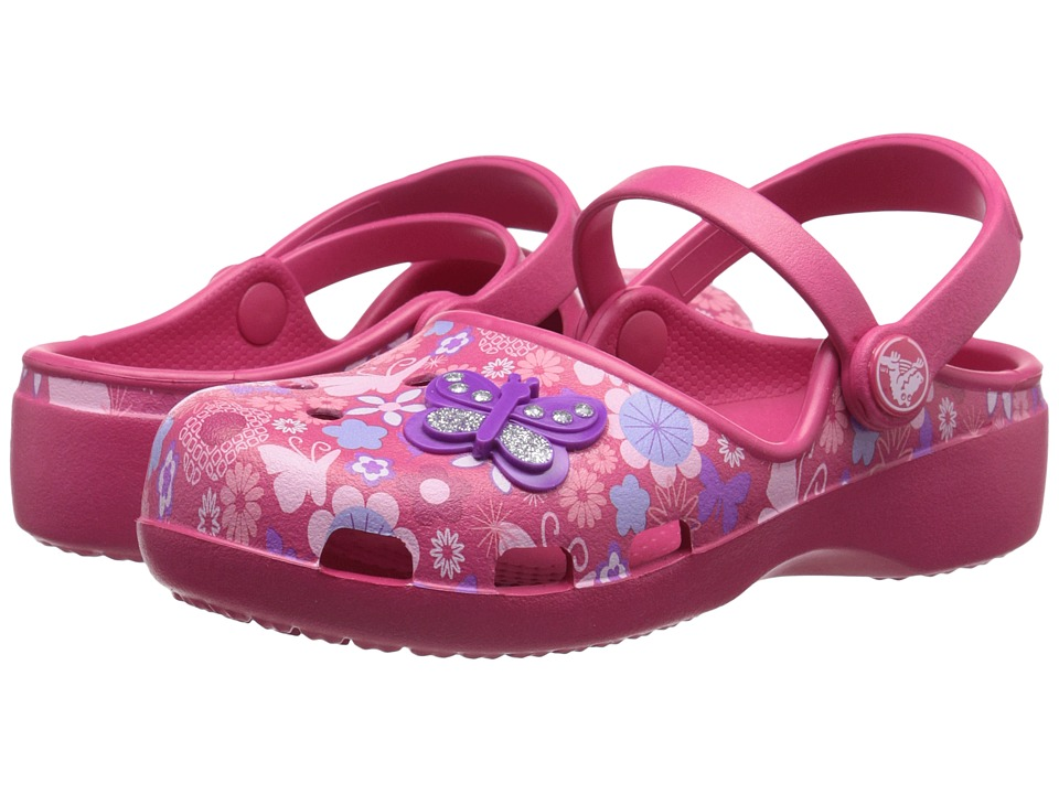 Crocs Kids - Karin Butterfly Clog (Toddler/Little Kid) (Raspberry) Girls Shoes