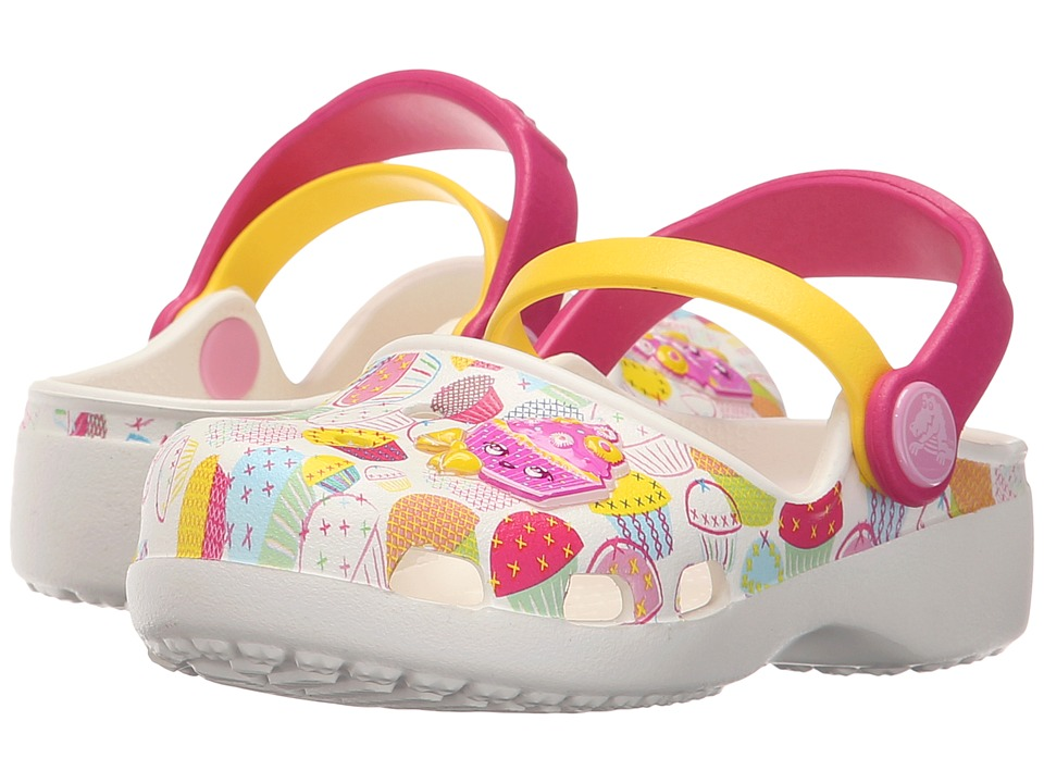 Crocs Kids - Karin Cupcake Clog (Toddler/Little Kid) (White) Girls Shoes
