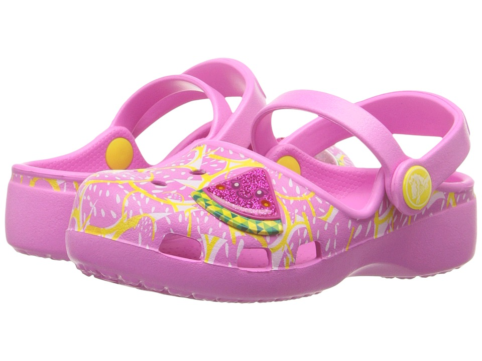 Crocs Kids - Karin Watermelon Clog (Toddler/Little Kid) (Party Pink) Girls Shoes