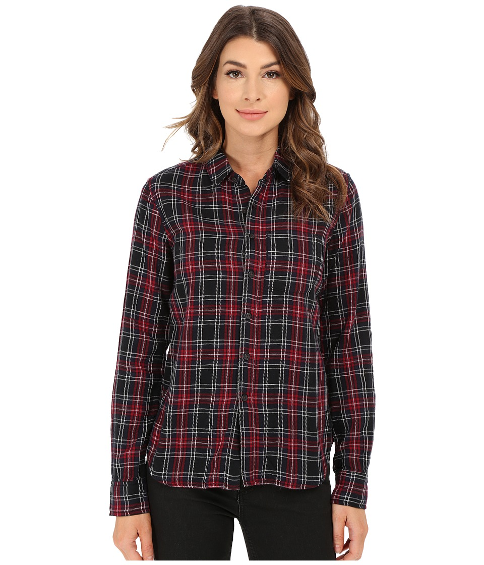 Joe's Jeans - Madie Woven Shirt (Black/Red Plaid) Women's Clothing