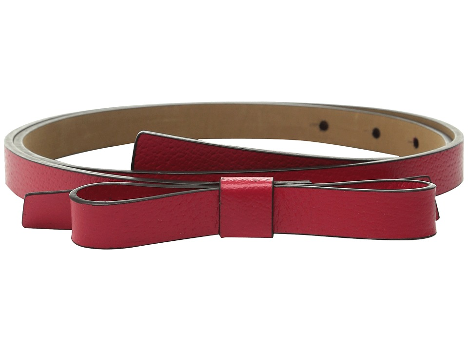 Kate Spade New York - Boarskin Panel Bow Belt (Rose Jade 1) Women's Belts