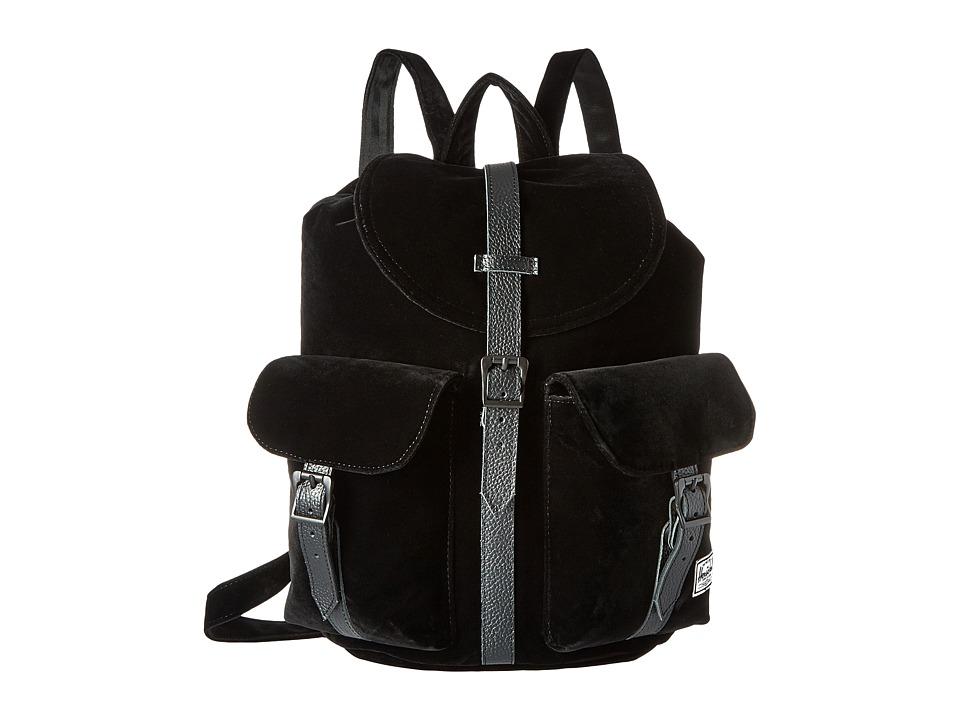 Herschel Supply Co. - Dawson (Black Velvet/Black Leather) Bags