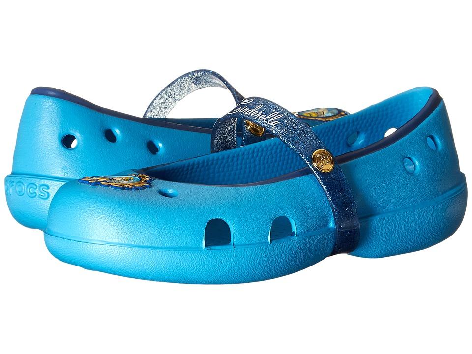 Crocs Kids - Keeley Disney Princess Flat (Toddler/Little Kid) (Bluebell) Girls Shoes