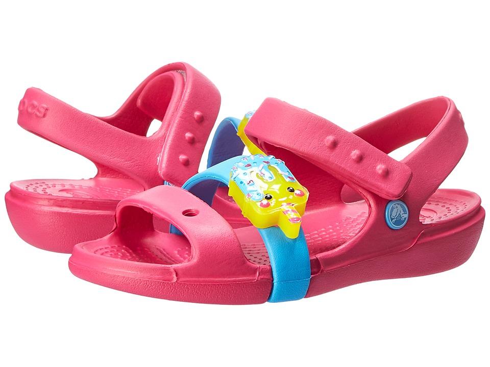 Crocs Kids - Keeley Sweets LED Sandal (Toddler/Little Kid) (Candy Pink/Bluebell) Girls Shoes