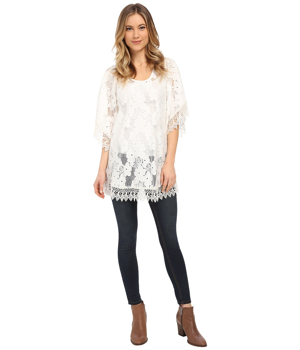 Lucy Love - In Heaven Tunic (White) Women's Blouse