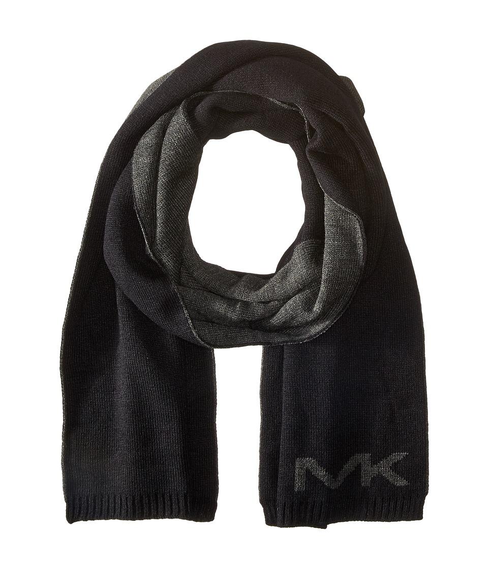 MICHAEL Michael Kors - Placement Logo Muffler (Black) Scarves