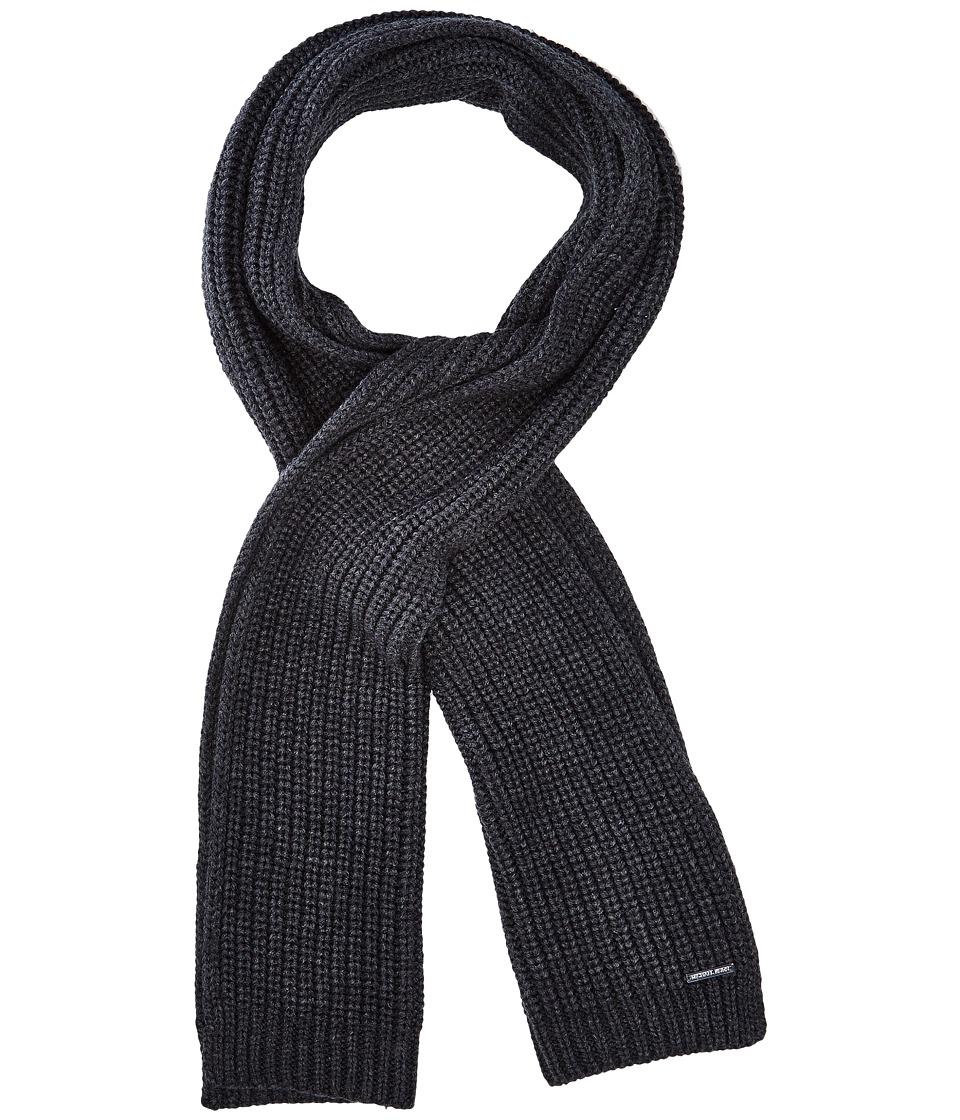 MICHAEL Michael Kors - Half Cardigan Stitch Muffler (Charcoal) Scarves