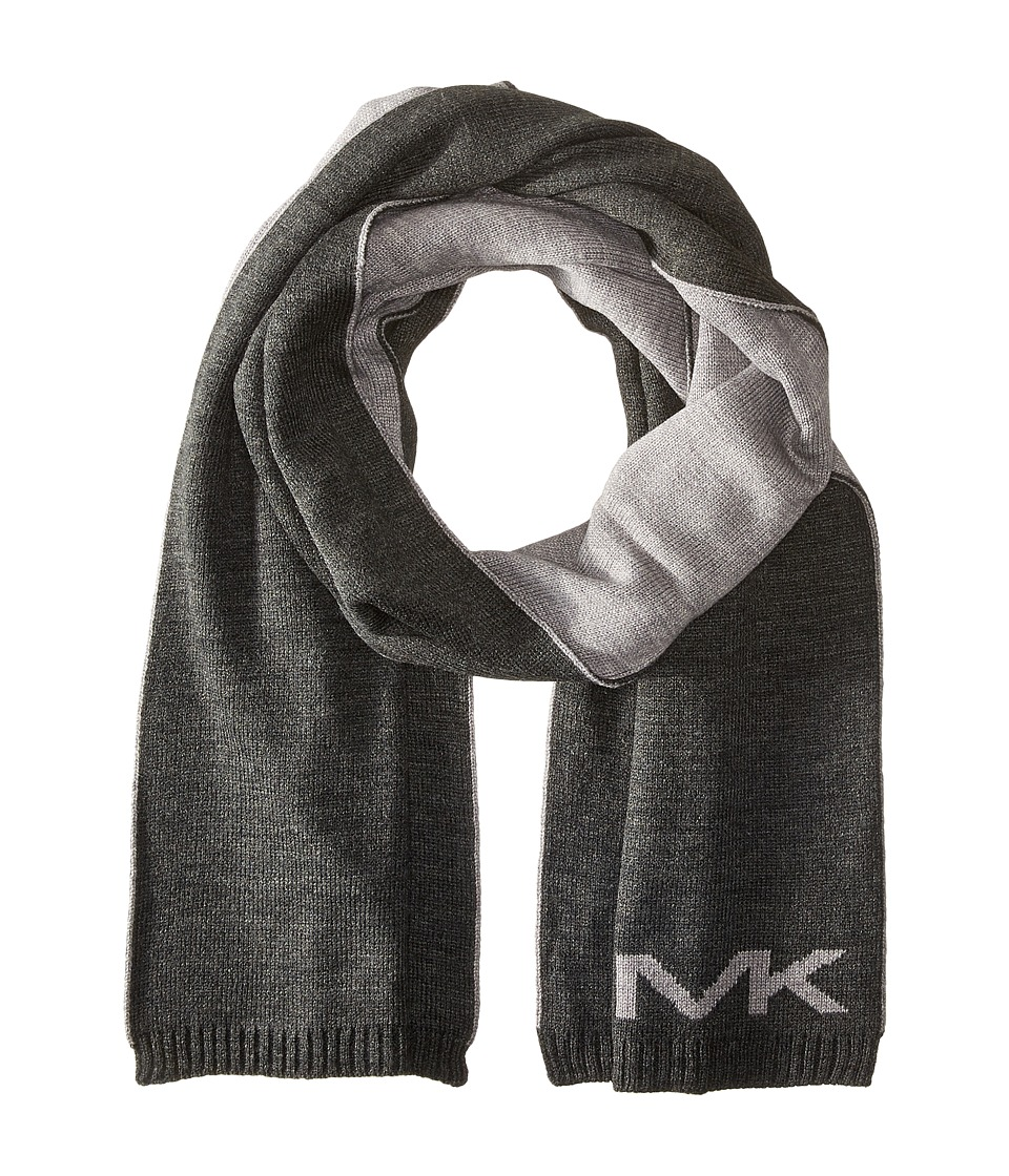 MICHAEL Michael Kors - Placement Logo Muffler (Charcoal) Scarves