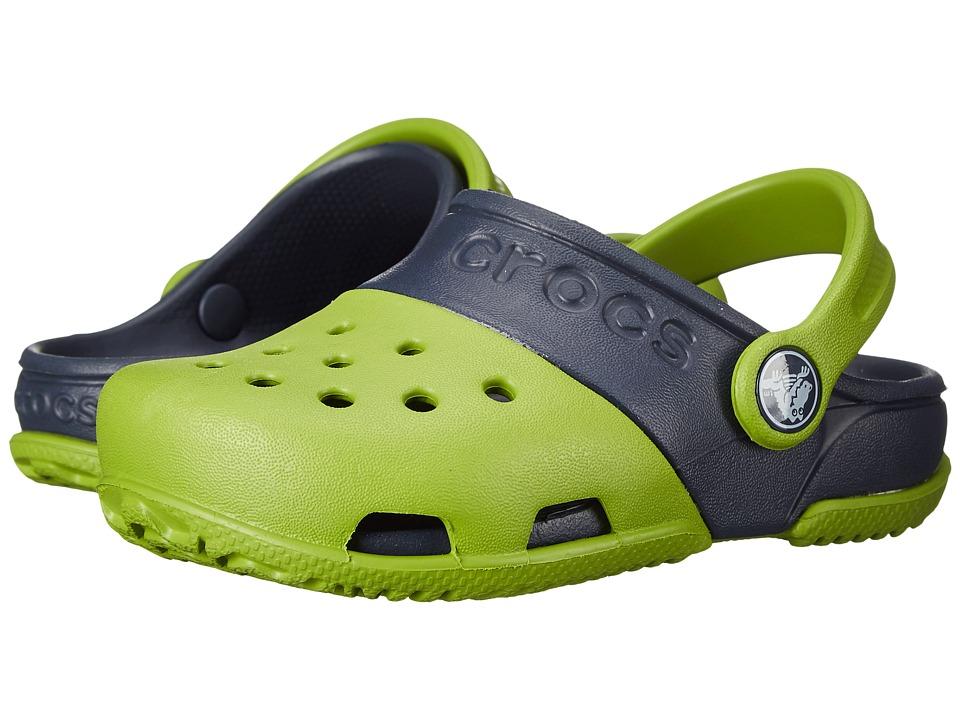 Crocs Kids - Crocs Kids - Electro II Clog (Toddler/Little Kid) (Parrot Green/Navy) Kids Shoes