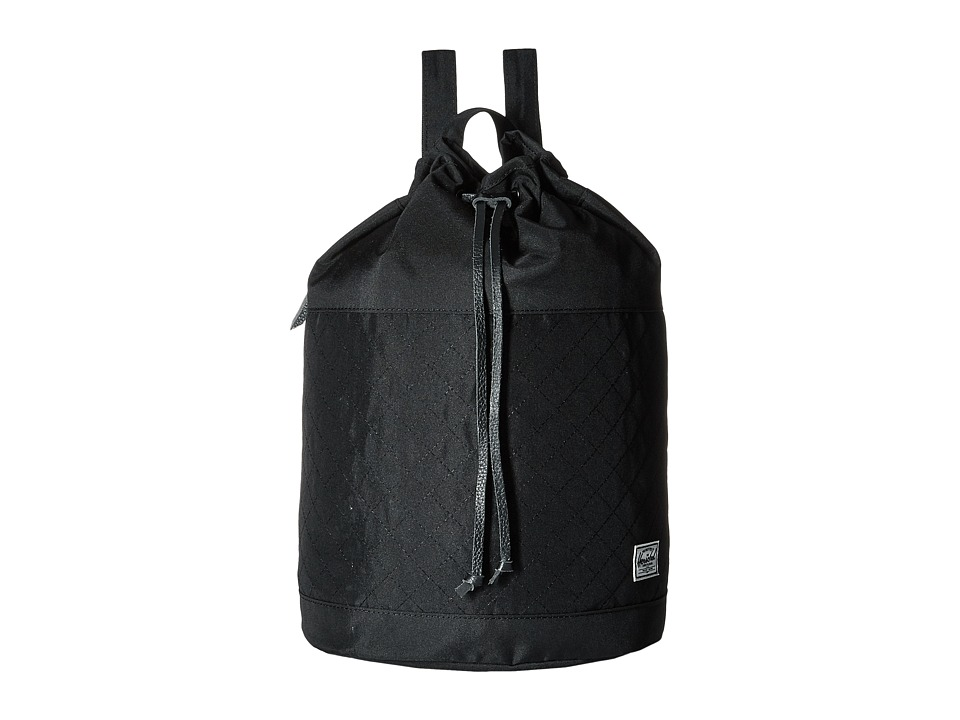 Herschel Supply Co. - Hanson (Black Quilted/Black Drawcord) Backpack Bags