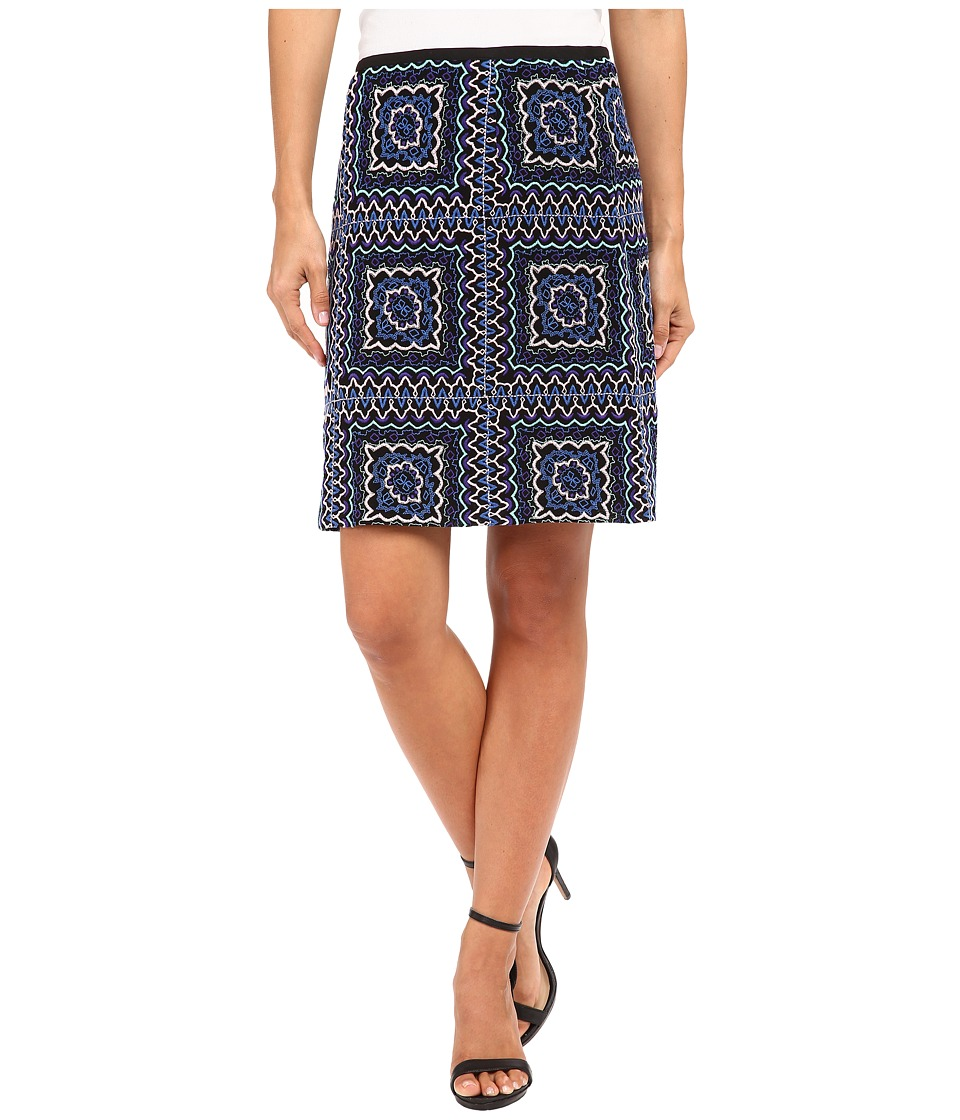 Nanette Lepore - Patchwork Mini Skirt (Black/Multi) Women's Skirt