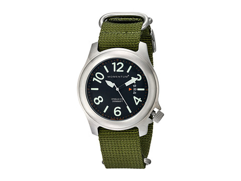 Momentum by St. Moritz - Steelix (Black/Green) Watches