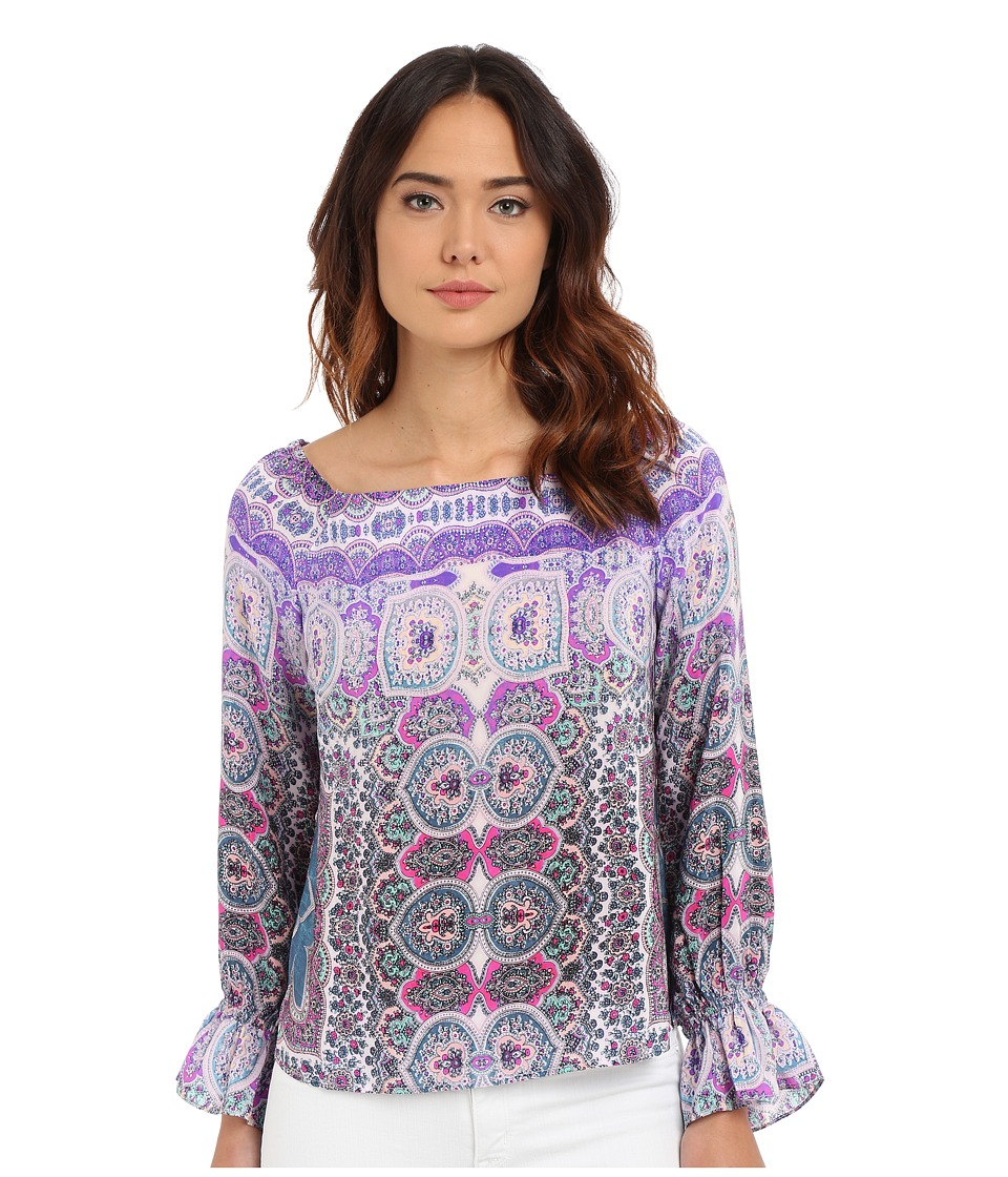 Nanette Lepore - Gypsy Top (Blue/Purple Multi) Women's Clothing