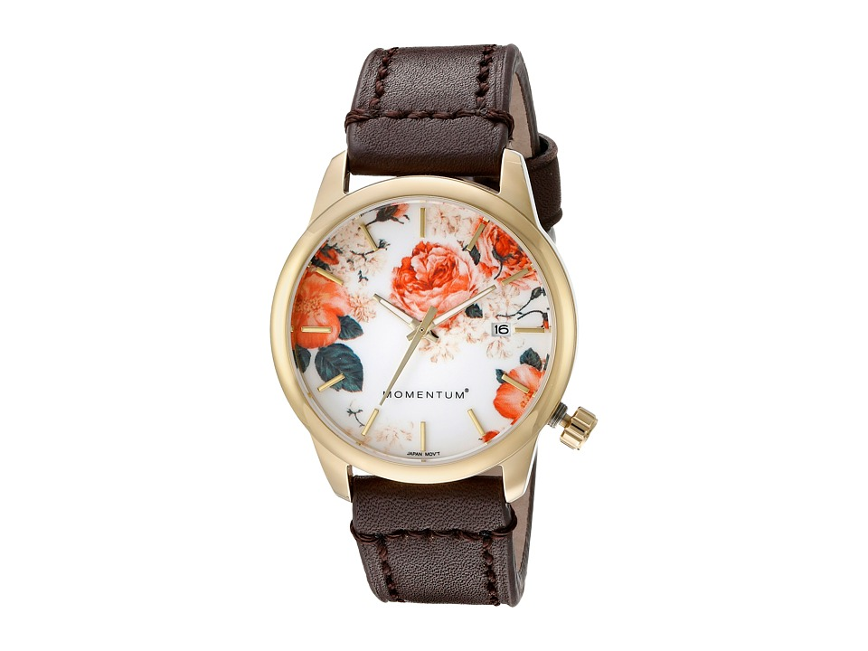 Momentum by St. Moritz - Logic SS (Rose Pattern/Brown) Watches