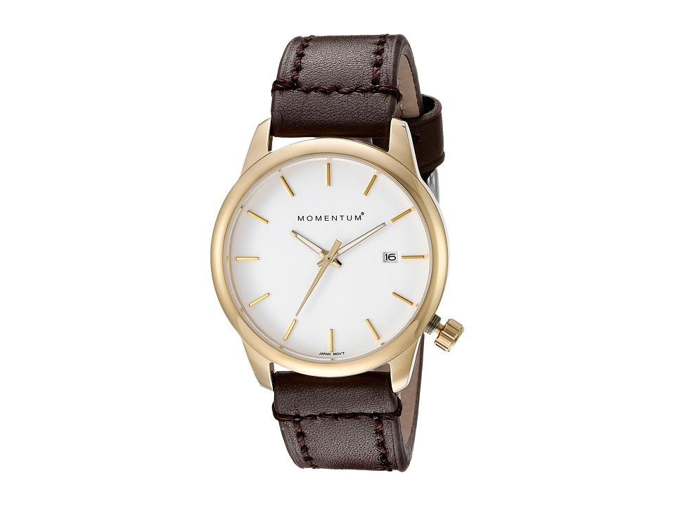 Momentum by St. Moritz - Logic SS (White/Brown) Watches