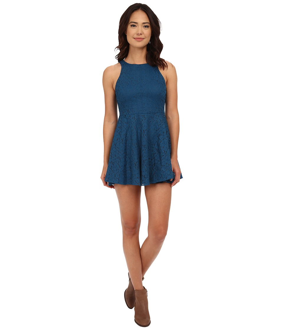 Lucy Love - Hollie Jeans Dress (Peacock Blue) Women's Dress