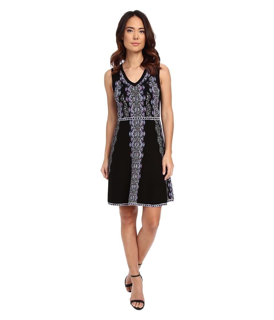 Nanette Lepore - Mystical Stitch Dress (Black/Multi) Women's Dress
