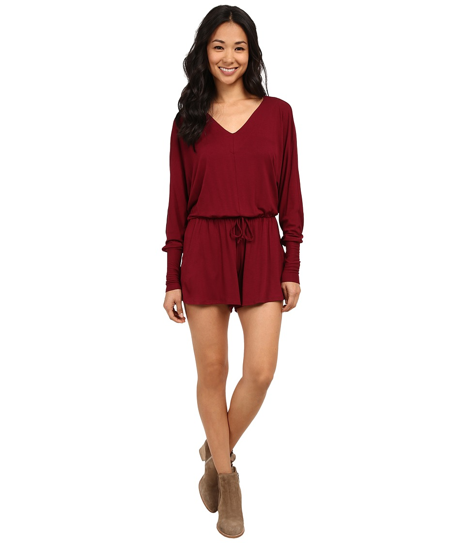 Lucy Love - Rose Bowl Romper in Marsala (Marsala) Women's Jumpsuit & Rompers One Piece