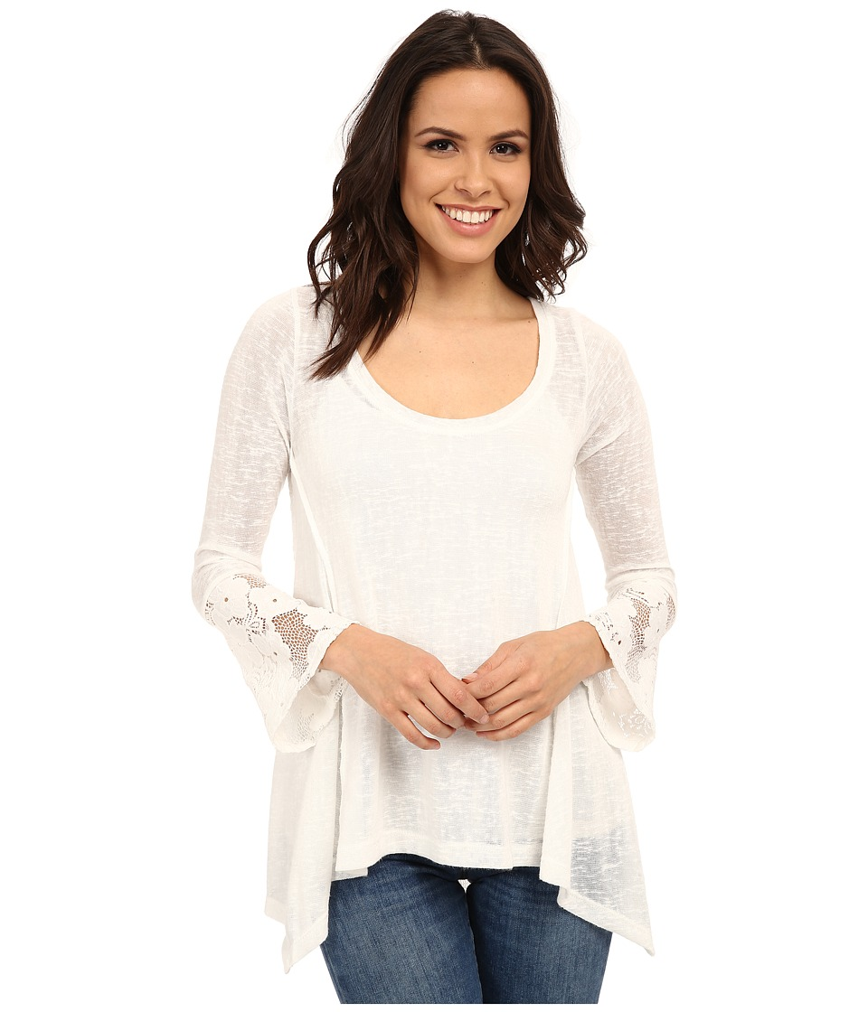 Lucy Love - Ray Ann Top (White) Women's Blouse