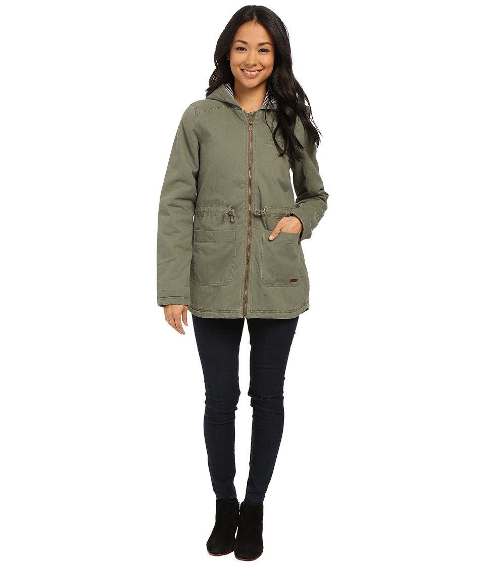 Roxy - Primo Parka Jacket (Dusty Olive) Women's Coat