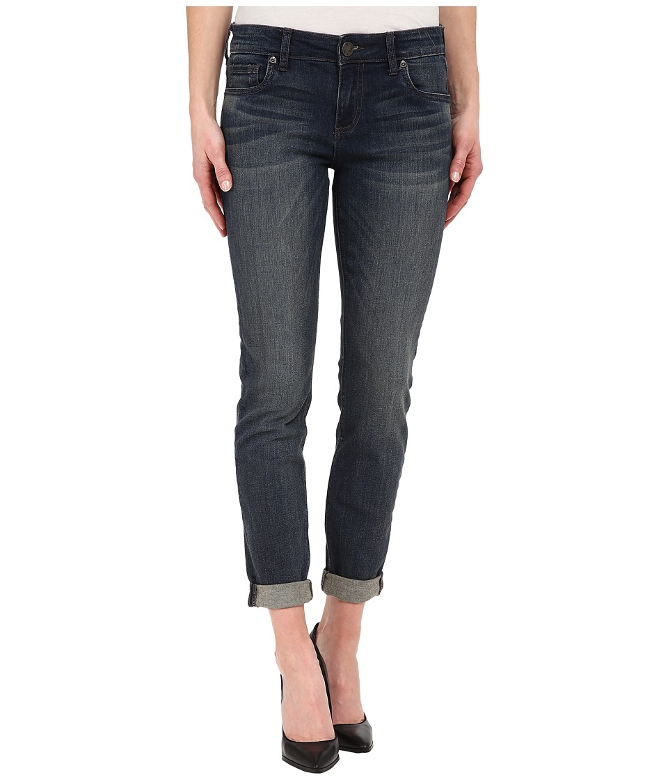 KUT from the Kloth - Catherine Slouchy Boyfriend Jeans in Honor/Dark Stone Base Wash (Honor/Dark Stone Base Wash) Women's Jeans