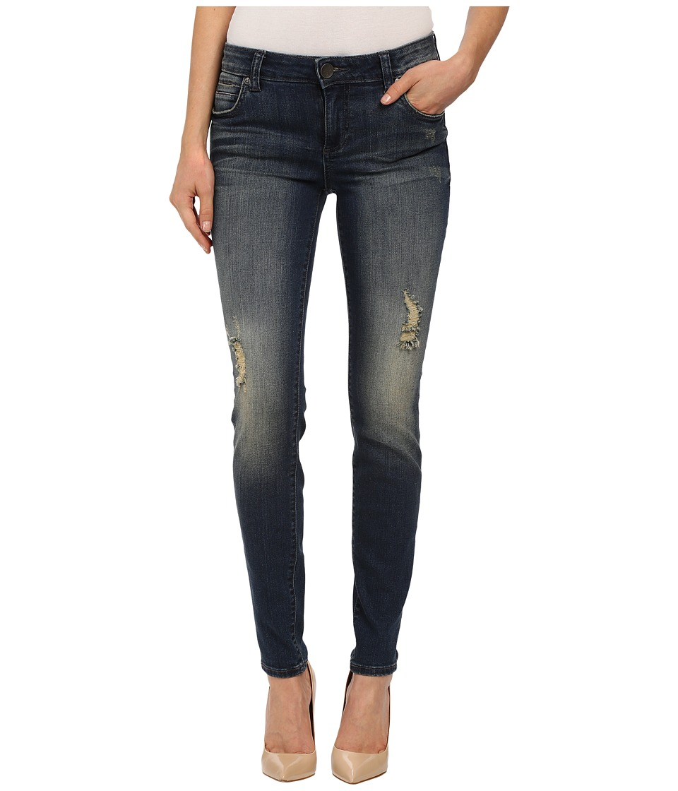 KUT from the Kloth - Mia Toothpick Five-Pocket Skinny Jeans in Laugh/Dark Stone Base Wash (Laugh/Dark Stone Base Wash) Women's Jeans