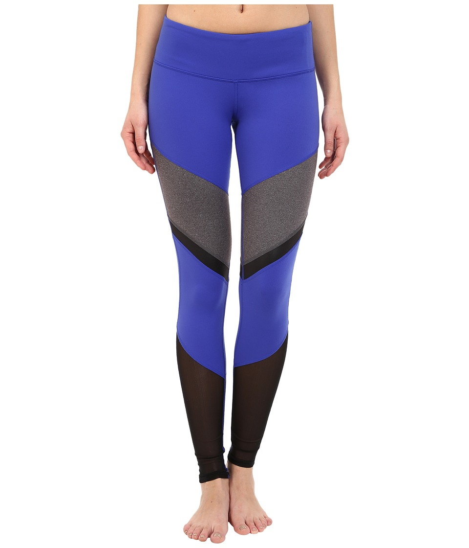 ALO - Sheila Leggings (Deep Electric Blue/Stormy Heather/Black Glossy) Women's Workout