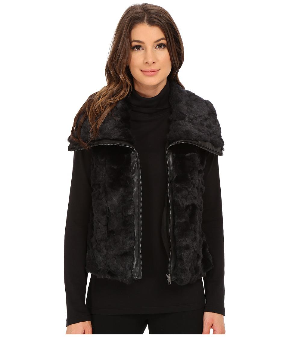KUT from the Kloth - Kate Fur Vest (Black) Women's Sleeveless