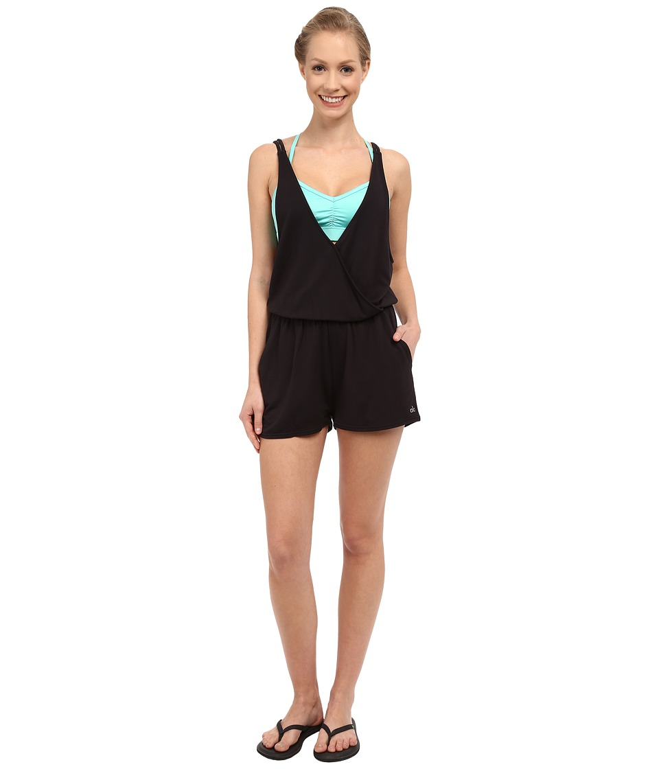 ALO - Hatha Romper (Black) Women's Jumpsuit & Rompers One Piece