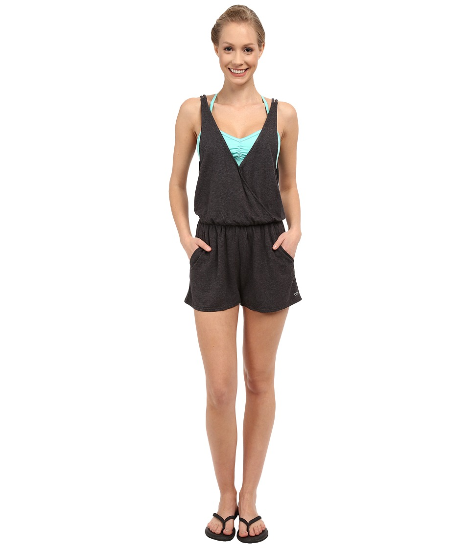 ALO - Hatha Romper (Charcoal Heather) Women's Jumpsuit & Rompers One Piece