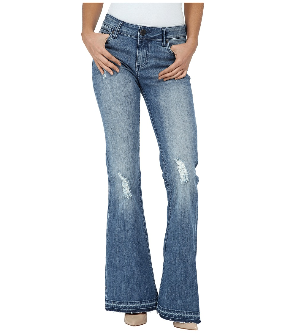 KUT from the Kloth - Elena Super Flare Jeans w/ Released Hem in Organize (Organize) Women's Jeans