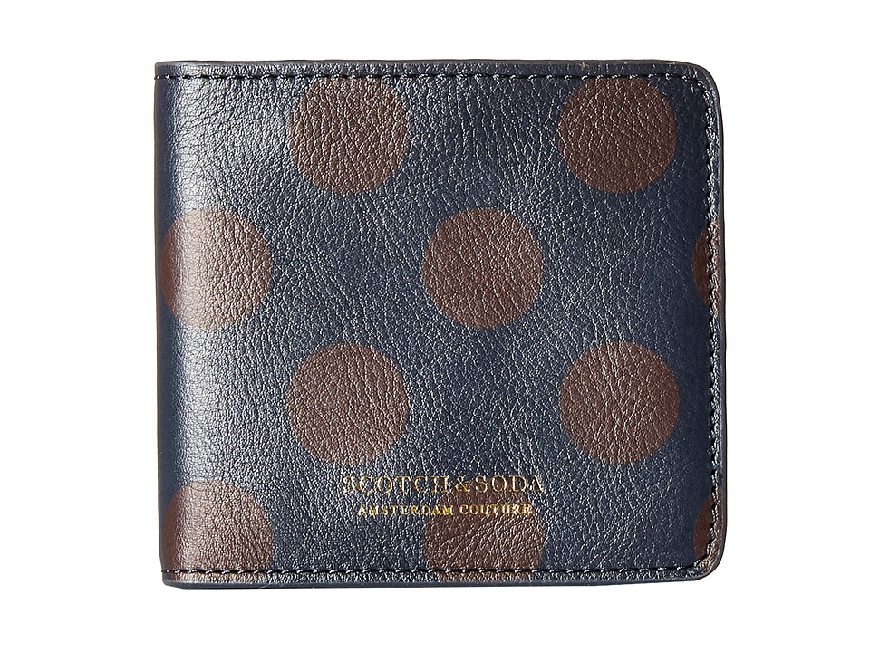 Scotch & Soda - Leather Wallet with Zip and Pocket (Black/Brown) Bi-fold Wallet