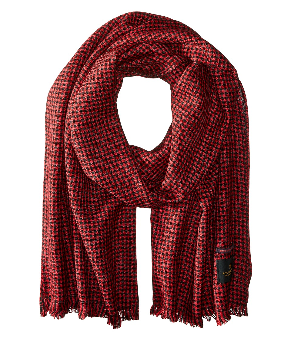 Scotch & Soda - Brushed Gentlemen's Scarf (Red) Scarves